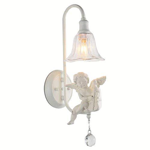 ZHANG NAN ● Europäischer weißer Harz-Violinen-Engels-Spiegel-Frontwand-Lampen-Klarglas-Lampenschirm-Schlafzimmer ●