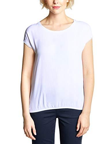 Cecil Damen 313381 T-Shirt, per Pack Weiß (White 10000), X-Large (Herstellergröße:XL) - T-shirt Pack Weißes Frauen