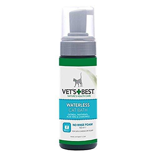Vet's Best Shampoo a Secco Naturale Senz' Acqua per Gatti - 150Ml