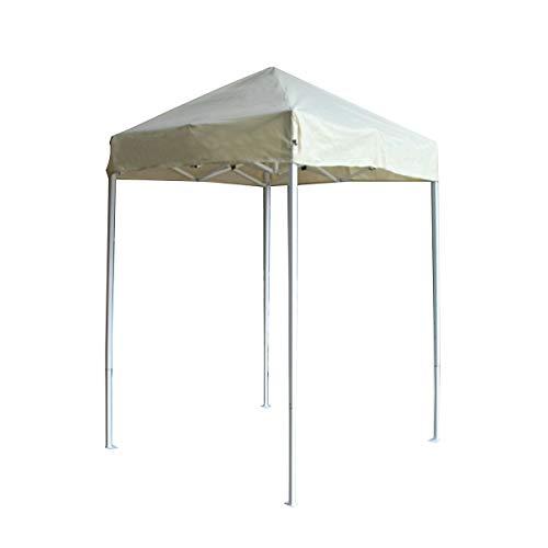 ALEKO GZF5X5BG Faltbarer Pavillon aus Polyester, für Terrasse, Kaffee, 1,5 x 1,5 m, cremefarben