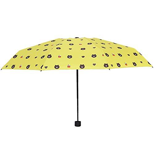 JUNDY Regenschirm, Taschenschirm, Kompakter Falt-Regenschirm, Klein, Leicht, Reiseschirm Ultraleichter, kräftiger und windbeständiger 8-Knochen-Fünffach-Regenschirm, Farbe 8, 96 cm