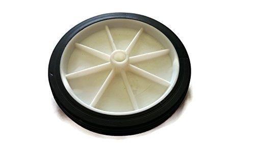 1 x blanco y negro 108 mm poliuretano rueda para carrito de y carros