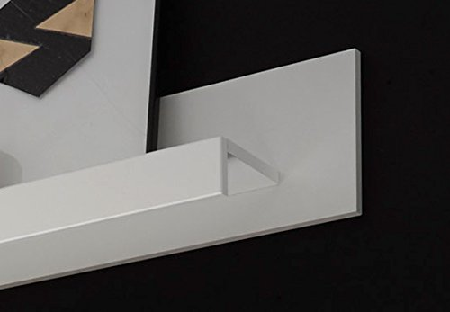 Wohnwand Anbauwand mit LED-Beleuchtung 440940 weiß 260cm 4-teilig - 4