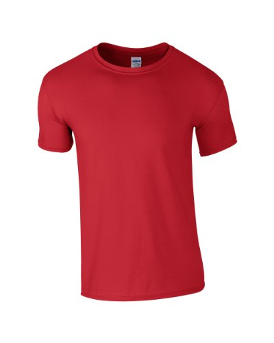 Gildan Softstyle Erwachsene ringgesponnene Casual Top Erwachsene Short Sleeve Crew Neck T-Shirt Rot
