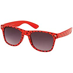 Sonnenbrille 50er Rockabilly Style Sterne rot