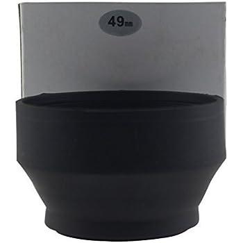 Leadasy Pare-soleil d'objectif Souple Universel 49mm à 3 positions pour Canon, Fujifilm, Leica, Nikon, Olympus, Panasonic, Pentax, Samsung, Sigma, Tamron, Tokina