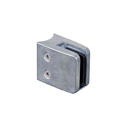Pince à verre carrée 55mm en zamac brut pour tube Ø42,4mm