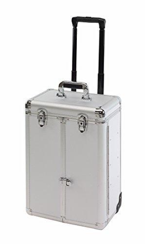 Coiffeur Valise en aluminium à roulettes valise à, Beauty Tapis Denver en argent