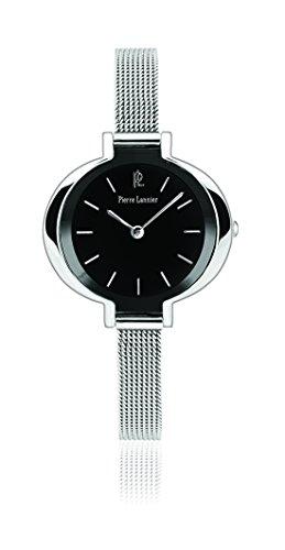 Pierre Lannier - 002F638 - Week End Ligne Pure - Montre Femme - Quartz Analogique - Cadran Noir - Bracelet Acier Argent
