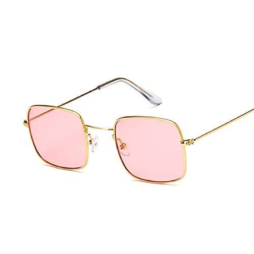 Vintage Kleine Quadratische Sonnenbrille Frauen Retro Rosa Klare Linse Sonnenbrille Dame Retro Sonnenbrille Weibliche Ozean Brillen Oculos De Sol Red Margarita-set