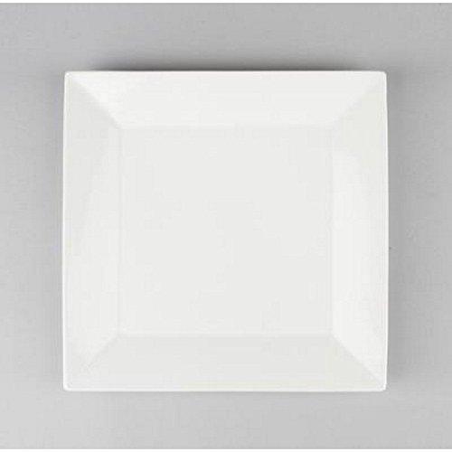 Paris Prix - Lot De 6 Assiettes carré 20cm Blanc