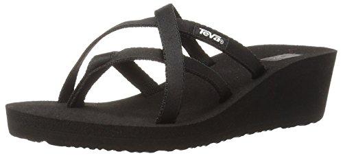Criss Cross Wedge Sandal (Teva Women's Mandalyn Sandal,Black,9 M US)