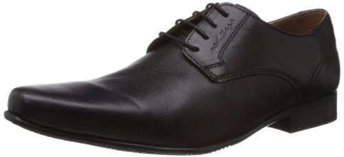 Red Tape Men's Black Leather Formals & Lace-Up Flats (RTS6291B) - 7 UK