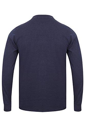 Tokyo Laundry Herren T-Shirt 'Lawton Cove' Sunoco Lake - Mood Indigo