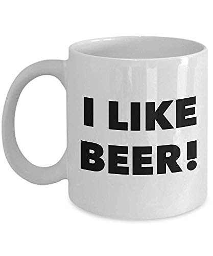 I Like Beer Lover Mug Funny Coffee Cup for Home Beer Brewer -