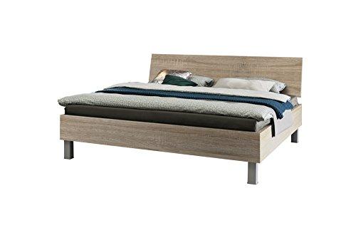 Express Möbel Bett Eiche Sonoma Nachbildung, Liegefläche 140x200 cm, Art Nr. 99010-760