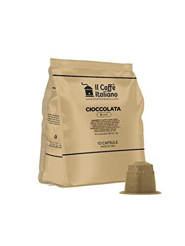FRHOME - 50 Cápsulas compatibles Nespresso - Chocolate - Il Caffè italiano