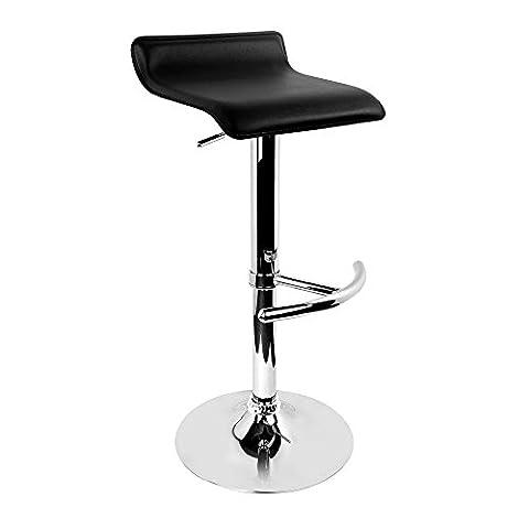 Hoffom 2x Chaise de bar pivotant Hauteur de l'assise réglable Tabouret Home meubles de salle à manger Petit Déjeuner