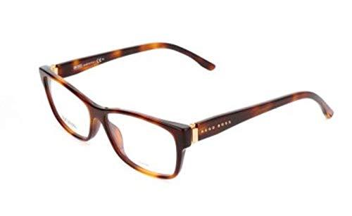 BOSS Hugo Damen Brille Brillengestelle, Braun, 53