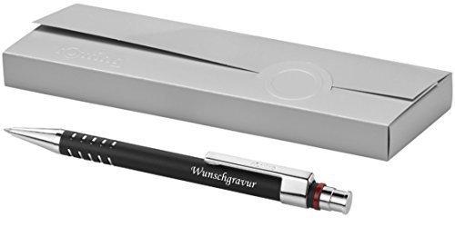 Exklusiver Rotring Kugelschreiber Modell DUBAI schwarz inkl. Gravur Lasergravur graviert neu
