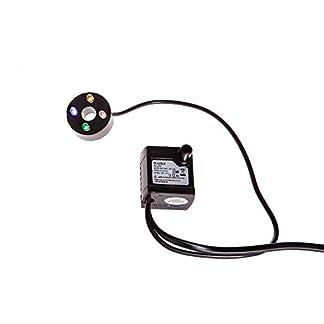 Moranduzzo-Luftpumpe-0-40-cm-mit-Scheibe-4-LEDs-Mehrfarbig-RGB-Reichweite-150-LiterOra-Schlauch-8-mm