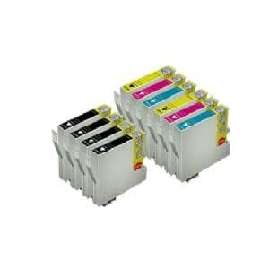 10 x Epson Stylus Office BX300F Compatible Printer Cartridges - Cyan / Magenta/Yellow/Black - Cartridges with Latest Chip - No Conversion and Reset Them of The Old Chips Longer Necessary! No Adapter Necessary! Just Simply Pasting and Print with Level Indicator
