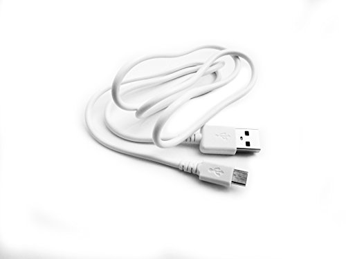 Kingfisher Technology 90cm USB 5V 2A PC White Charger Power Cable Lead Adaptor (22AWG) for August EP640 Bluetooth Headphones