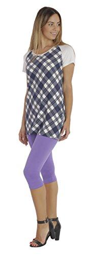 BeLady Damen Leggings 3/4 Capri aus Baumwolle Blickdichte Leggins Viele Größen Viele Farben Schwarz Grafitgrau Dunkelblau Grau Weiß Blau Rosa Braun Violett