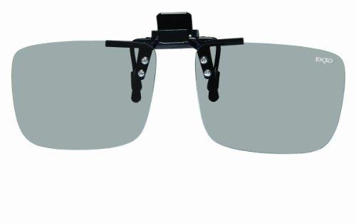 EX3D 1019 Polfilterbrille Clip On Brillenträger eckig