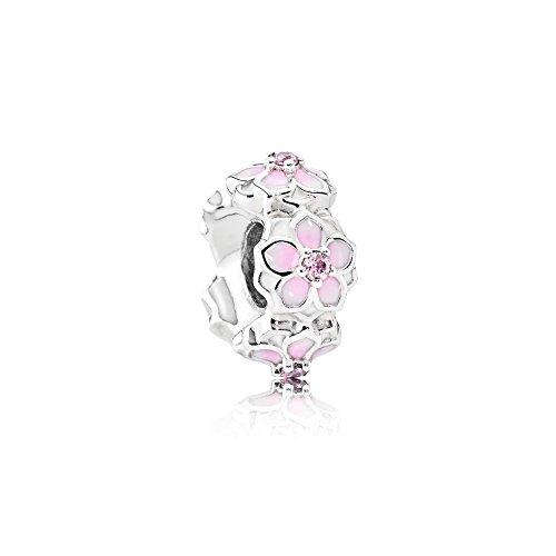 Pandora Damen -Charm Abstandhalter 925_Sterling_Silber zirkonia 792088PCZ (Charms Blumen Pandora)