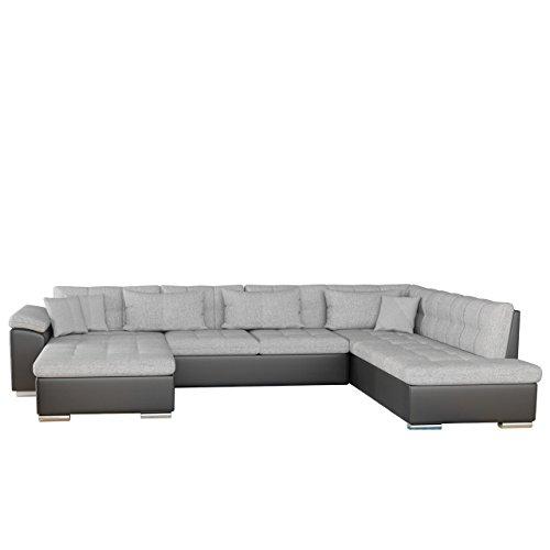 Ecksofa Niko Bris Bis! Technologie Cleanaboo®, Schwerentflammbar, Design Eckcouch mit Schlaffunktion und Bettkasten! U-Form Sofa Couch! Wohnlandschaft vom Hersteller (Seite: links, Soft 011 + Bristol 2460)
