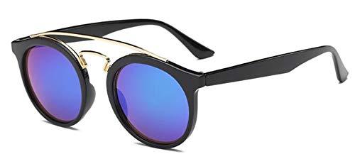 Daawqee Fashion Round Sunglasses Women Vintage Classic Retro Coating Plastic Sun Glasses Female Male black green 1101