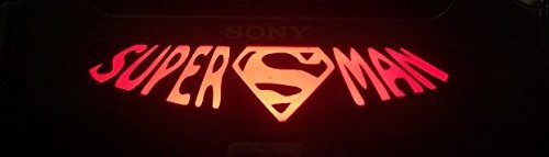 MightySticker® PS4 Designer Controller LED Light Bar Decal Vinyl Stickers Playstation 4 B Game DC Comics Super Hero Fan Superheroes Justice League Superman Steel Small Villa S Classic Logo Sign (1pc) by MightySticker® (Ps4 Controller Light Bar Superman)