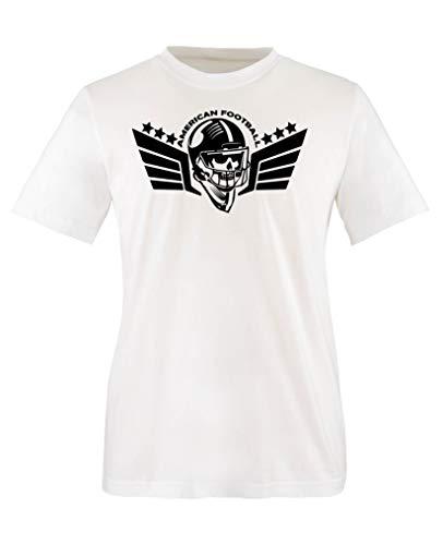 Comedy Shirts - American Football Schaedel - Mädchen T-Shirt - Weiss/Schwarz Gr. 110-116