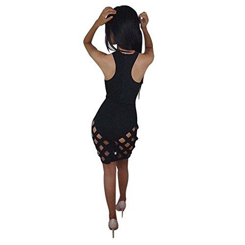 Moresave - Robe - Cocktail - Sans Manche - Femme Noir