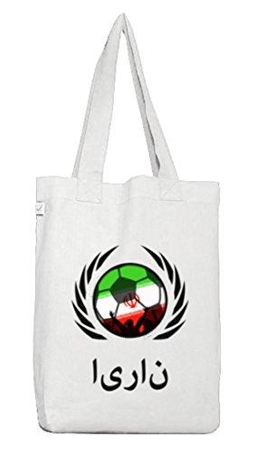 Wappen Fussball WM Fanfest Gruppen Jutebeutel Stoffbeutel Earth Positive Fußball Iran White