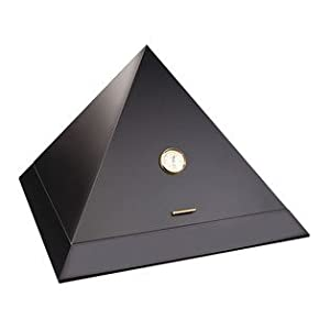 adorini Humidor Pyramid - Deluxe | Marken-Humidor mit Befeuchter, Hygrometer