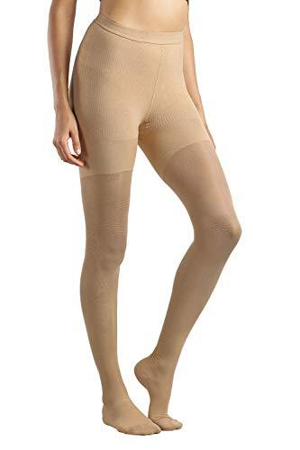 MD 15-20mmHg Anti-Embolie Strümpfe mit medizinische Qualität abgestufte Kompression Strumpfhosen für Damen und Herren mit geschlossener Fußspitze Nude S -