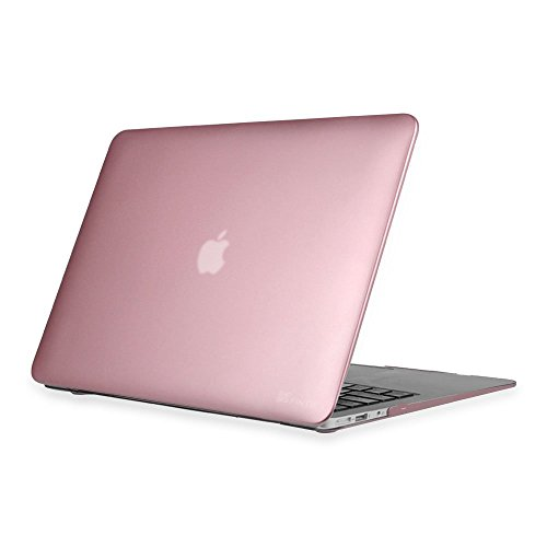 Fintie Hülle für MacBook Air 13 - Ultradünne Plastik Hartschale Schutzhülle Snap Case für Apple MacBook Air 13.3 Zoll (A1466 / A1369), Roségold - Notebook-tasche-kleber