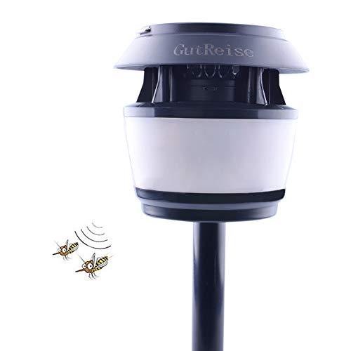 GutReise Repelente de insectos ultrasónico portátil luz de calle con energía solar impermeable