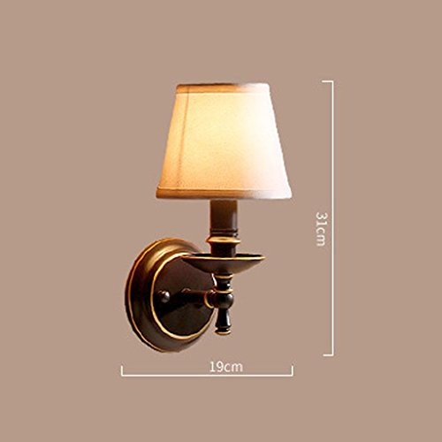 GYR Applique Murale Lampe de Fer Corps de Lampe n'est pas Tissu Abat-jour E14 Source de Lumière Nordique Chambre Salon Restaurant Hall d'Entrée de Fer Hall d'entrée Simple Simple Tête Lampe