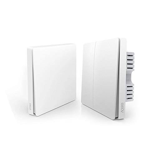 per Xiaomi Aqara Wall Switch, Smart Home Tramite Apple Homekit e Mijia App, Aqara Zigbee Version Interruttore da Parete Intelligente (Double bond)