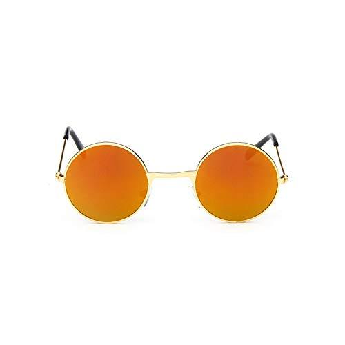 Sonnenbrille Coole Retro Schwarz Blau Runde Kids Sonnenbrille Little Girl/Boy Baby Kind Brille Schutzbrille Uv400 Kleines Gesicht Golden Braun