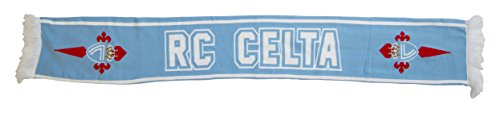 R.C. Celta de Vigo Bufcel Bufanda Doble HD, Azul Celeste / Blanco, 140 x 20 cm