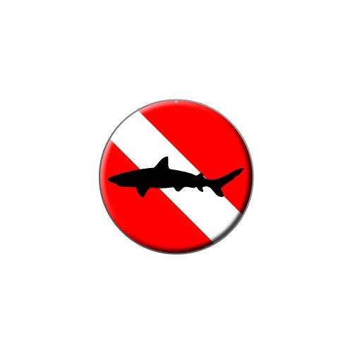 Tauchen Flagge–Scuba Diver Dive–SHARK Metall Revers Hat Shirt Handtasche Pin Krawattennadel Pinback (Diver Hat)