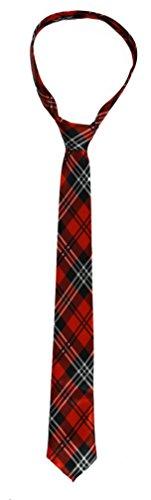 ILOVEFANCYDRESS Schottische Krawatte in Rotem Karo Muster und Den STÜCKZAHLEN von || 1 Krawatte || 6 Krawatten || 12 Krawatten || 24 Krawatten