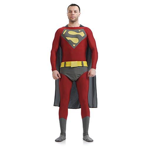 QWEASZER Justice League Superman Kleidung Mann aus Stahl Cosplay Kostüm Kinder Erwachsene Hero Fancy Dress Kostüm Weihnachten Halloween - Superman Kostüm Für Den Mann Aus Stahl