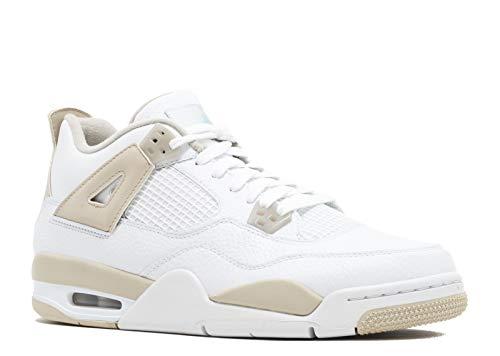 Jordan Air 4 Retro GG Linen Big Kid's Shoes White/Boarder Blue/Sand 487724-118 (7 M US)