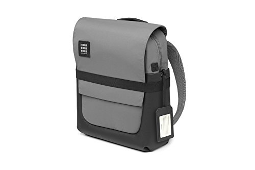 Moleskine ID Collection Zaino da Lavoro Professionale Waterproof Device Backpack per Tablet, Laptop, PC, Notebook e iPad Fino a 15'', Dimensioni 29 x 12 x 40 cm, Colore Grigio Ardesia