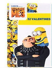 Valentine 's Day Lizenzprodukt Karten Despicable Me Minions Cartoon Charakter, 32-ct.